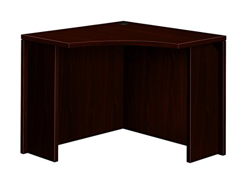 Series Corner Workstation - HON 105810NN 10500 Series 18 by 36 by 29-1/2-Inch Curved Corner Workstation Desk, Mahogany