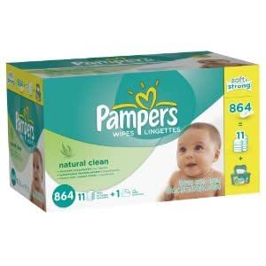 Pampers Baby Fresh Wipes 12x Box with Tub (Two pack 1728 Count with two tubs)