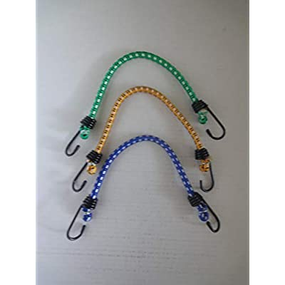 3-piece 12 inch small size Bungee Cords with hooks