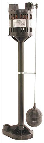 Flotec Pedestal Sump Pump With Vertical Float Switch, 3000 gph, 1/3 hp, 115 VAC, 3.5 A