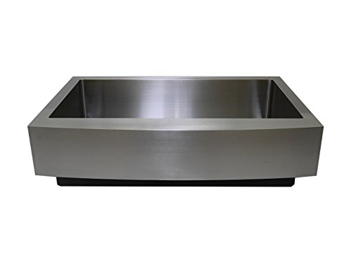 "Auric Sinks 33"" Retrofit Short Apron Farmhouse Curved Fro..."