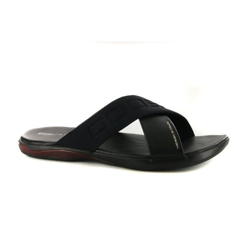 248218c1182a Mens Adidas Porsche Design Freestyle Black Leather Slide Sandals UK 11   Amazon.co.uk  Shoes   Bags