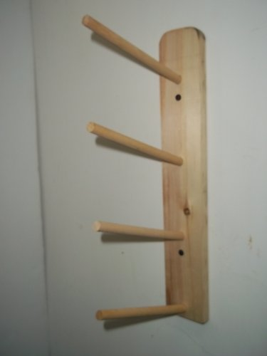 Ribbon Spool Holder (Wood Storage Rack Ribbon 4 Rolls Curling Spool Storage Organize)