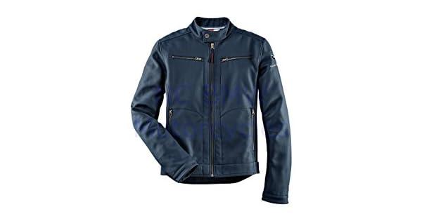 Amazon.com: Chamarra genuina de motocicleta para hombre azul ...