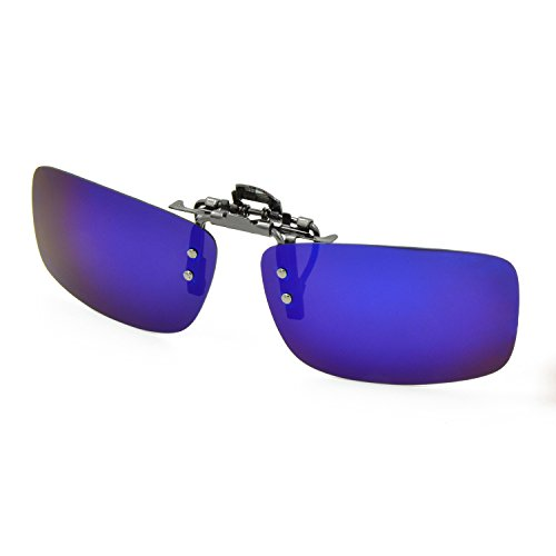 Besgoods Polarized Clip-on Sunglasses Metal Flip up Glasses Driving Fishing Outdoor Sport