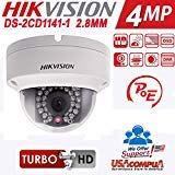 Hikvision DS-2CD1141-I CCTV POE 4MP Dome IP HD Security Network Camera English Version