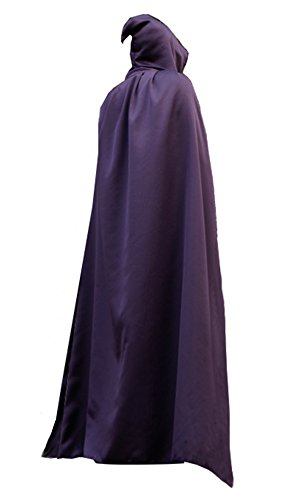 [Boys Hooded Cloak Role Cape Play Costume Purple One Pieces 150cm] (Purple Hooded Cape)