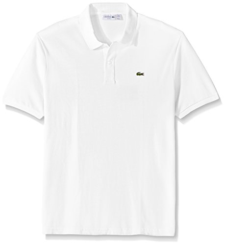 Lacoste Men's Petit Piqué Slim Fit Polo Shirt, White, Large