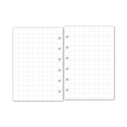 30 Double-Sided sheets fits six-ring binders A5 size Body Measurements Log Planner insert