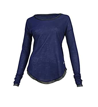 Burn Activewear Navy Round Neck T-Shirt For Women