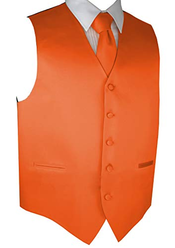 Brand Q Men's Formal Prom Wedding Tuxedo Vest, Tie & Pocket Square ()