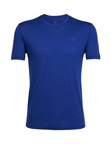 Icebreaker Merino Men's Tech Lite Short Sleeve Crewe T-Shirt, Cobalt/Cobalt, Large