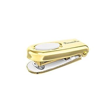 PraxxisPro Mini Stapler, Set of 2, Built-In Staple Remover, Lifetime Warranty (Gold)