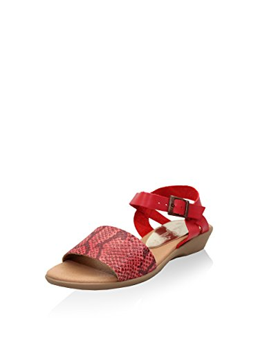 Esther Garcia Pmg-5104-roj - Sandalias de cuña Mujer Rojo