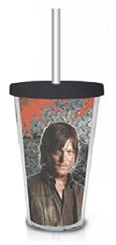 AMC The Walking Dead Daryl Dixon Foil Wrapped Plastic Tumbler Cup with Lid and Straw -  Just Funky, WD-CC-136-JFC.05