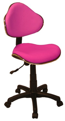 Fabric Ergonomic Task Home Office Computer Chair, Pink