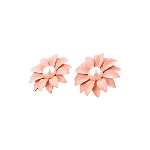 Stud Earrings, Bolayu Women Lady Lovely Daisy Flower Pearl Ornament Decoration