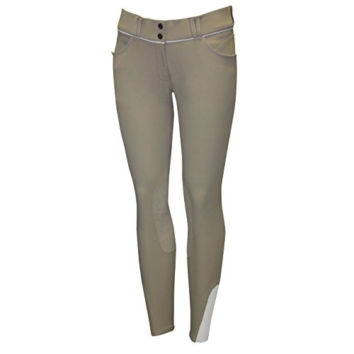 Girl Pants Chelsea - Elation Girls Riding Pants for Kids Platinum Brooklyn - Horse Show Breeches Girls (Tan, 10)