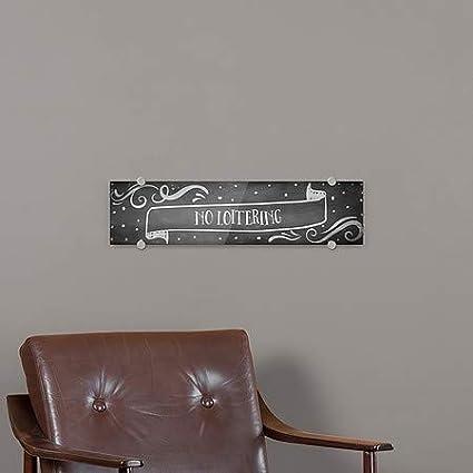 24x6 No Loitering CGSignLab Chalk Banner Premium Brushed Aluminum Sign 5-Pack