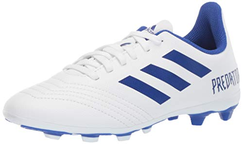 adidas Unisex Predator 19.4 Firm Ground Soccer Shoe White/Bold Blue/Bold Blue, 3 M US Little Kid by adidas (Image #1)