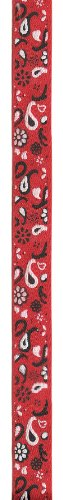 Offray Bandana Twill Craft Ribbon, 5/8-Inch Wide by 25-Yard Spool, Red -