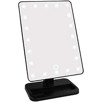 Lighted Makeup Mirror  Jmkcoz Smart Touch Screen 20 LED Lights Makeup Mirror  with Lights LED. Amazon com  Lighted Makeup Mirror  Jmkcoz Smart Touch Screen 20
