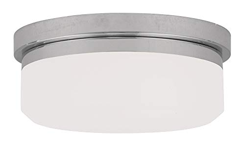Livex Lighting 7391-05 Isis 2 Light Ceiling Mount or Wall Mount, Chrome