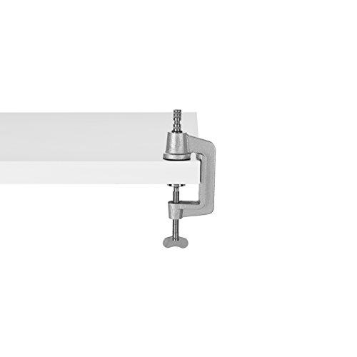 Anglepoise Original gama abrazadera de escritorio, metal, Painted Silver, chrome, metal, brushed aluminium