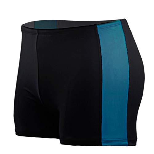 MODOQO Men's Short Trunks, Quick Dry Lightweight Lace Up Boxer Broefs for Summer Swimming Surfing Beach (Sky Blue,CN-XL/US-M)