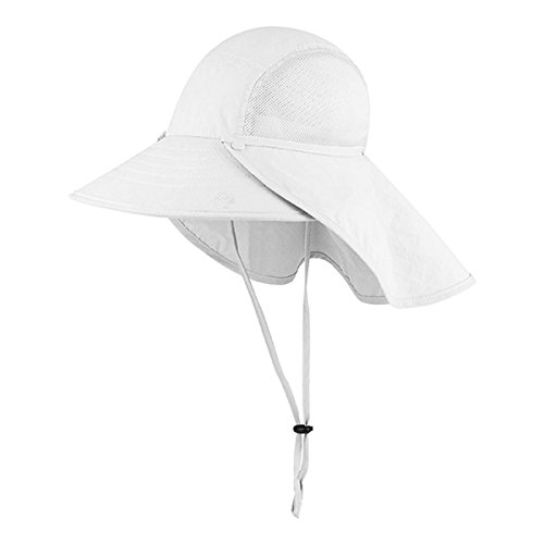 [Hats & Caps Shop Juniper Taslon UV Large Bill Cap - By TheTargetBuys | (WHITE)] (Pork Pie Hat For Sale)