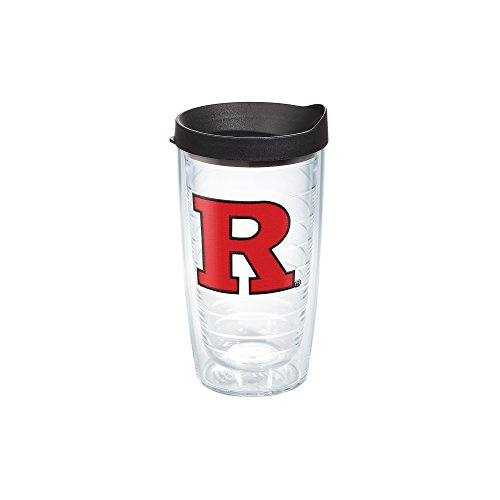 Tervis Rutgers University Nj Emblem Individual Tumbler With Black Lid  16 Oz  Clear