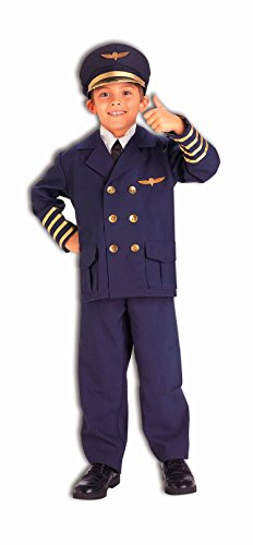 Kid's Airline Pilot Halloween Costume (Small 4-6)