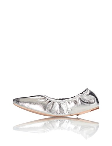 FIND Basil Ruched, WoMen Ballet Flats Silver