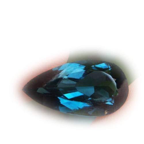 Lovemom 4.24ct Natural Pear London Blue Topaz Brazil #R