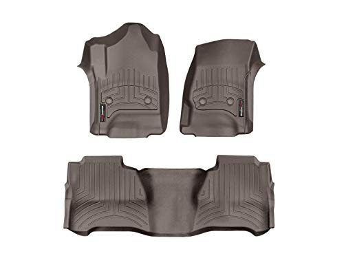 WeatherTech Custom Fit FloorLiner - 476071-475424 - 1st & 2nd Row (Cocoa)
