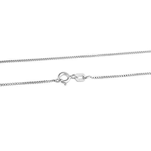(Azaggi Sterling Silver 0.8mm Thick Box Chain Necklace (22))