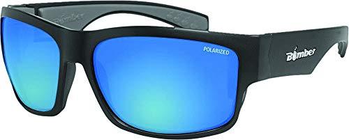 (Bomber Floating Eyewear Sunglasses - Tiger Bomb Matte Blk Frm / Ice Blue Polarized Lens / Gray Foam)
