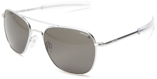 Randolph Aviator Polarized Sunglasses,Matte Chrome/Grey 58 - Glasses Sun Randolph