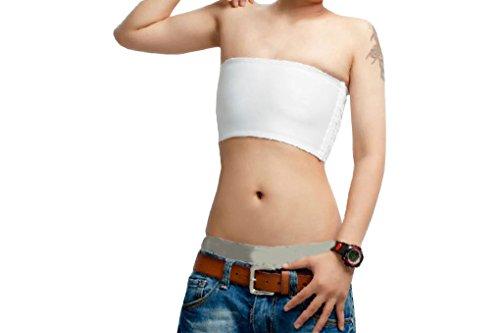 Momtuesdays2 Strapless Short Chest Binder Top for Tomboy Lesbian