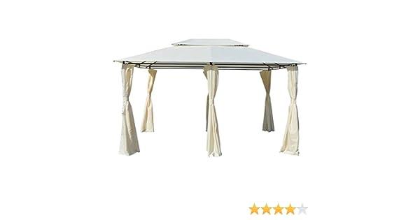vidaXL Cenador de jardín con cortinas 4x3 m: Amazon.es: Jardín