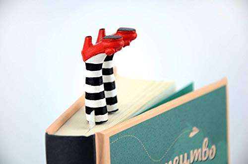 - Bookmark Wicked Witch || Personalized Bookmark || Bookmark Legs in Ruby Red Slippers || Legs in Stockings || Wonderful Wizard of Oz