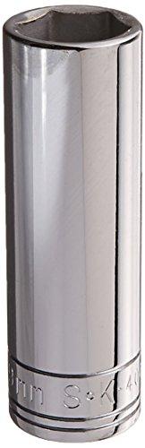 SK Hand Tool 40019 6 Point 19mm Drive Deep Socket, 1/2-Inch, Chrome