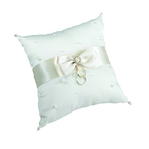 Lillian Rose Scattered Pearl Ring Pillow, 7-Inch, Ivory (Ivory Pearl Ring)