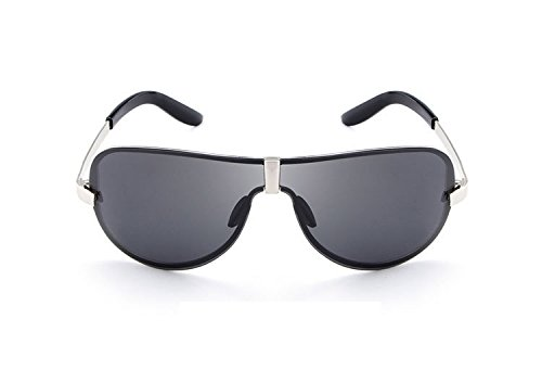 Gafas de polarizado de Gafas para moda Gafas adultos hombre MXNET de Gafas sol Gran sol Polaroid de sin Gafas Piloto sol de marco sol para hombre sol sol de Black Espejo Muj para Gafas de UV400 sol moda de w8AnxOqBXx