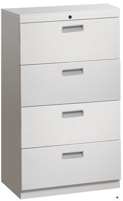 4 Drawer Trace Lateral File Storage Cabinet, Steel 36