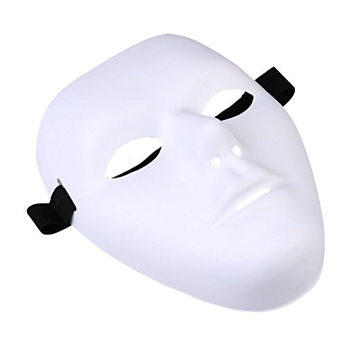 Thick Blank Male The Phantom Mask Costume White Face Mask Paintable ()