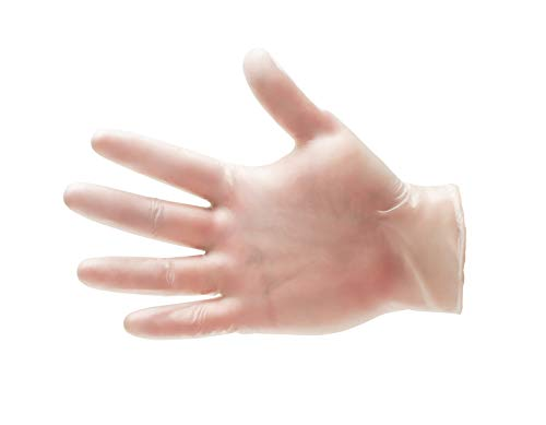 Vinyl Disposable Powdered Free Gloves 4.5 Mil Industrial Gloves Size-Large 1000 Pieces = 10 Boxes