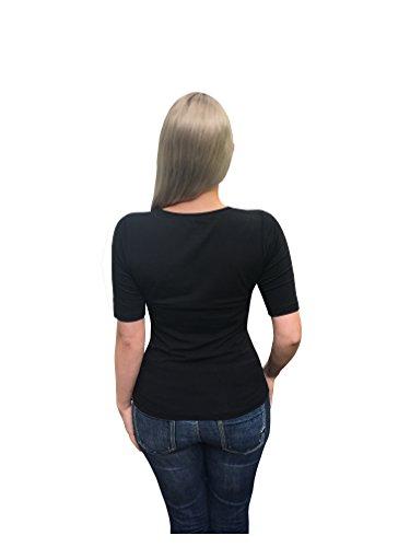 Marc O`Polo Core Damen T-shirt | Damenbekleidung in klassischem schwarz | Elegantes Shirt