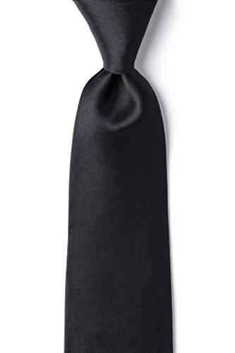 Extra Tie Black Long (The Essential Black Black Silk Extra Long Tie)