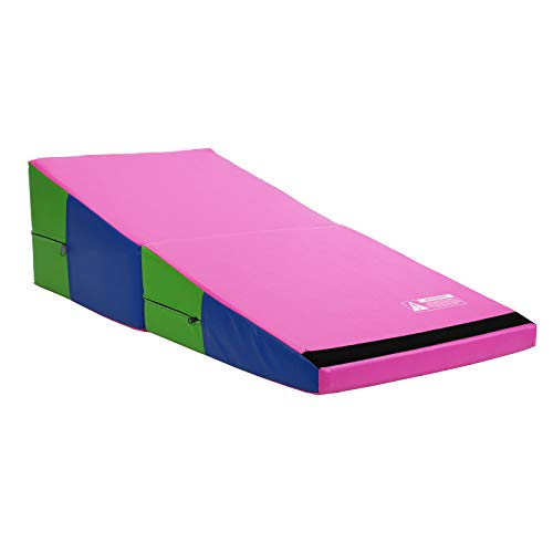 Commercial Bargains Bright Pastel Folding Incline Gymnastics Mat Foam Triangle Tumbling Wedge 121